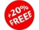 +20% FREE