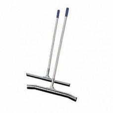 Сгон изогнутый для пола с ручкой, 75 см, сталь